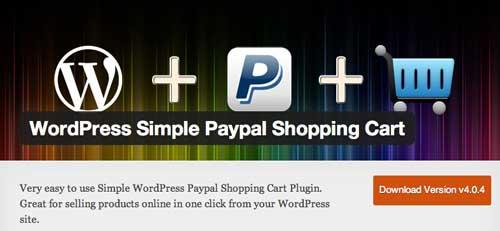 Plugin WordPress para PayPal: WordPress Simple PayPal Shopping Cart