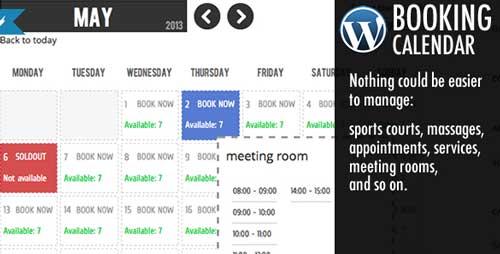 Plugin WordPress para reservaciones: WordPress Booking Calendar