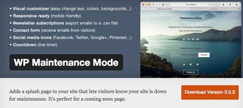 Plugin WordPress para crear anuncios de páginas próximas a lanzarse: WP Maintenance Mode
