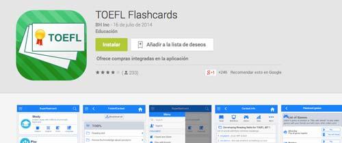 Programas para Android para prepararte para el IELTS y TOEFL: TOEFL Flashcards