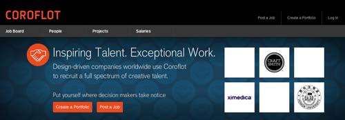 Sitios web donde crear portfolio online: Coroflot