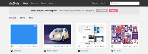 Sitios web donde crear portfolio online: Dribble