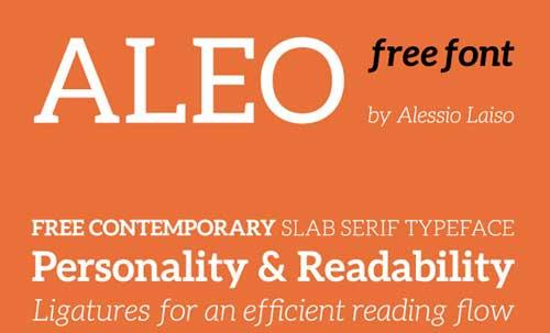 Tipografias gratis modernas y delgadas: Aleo