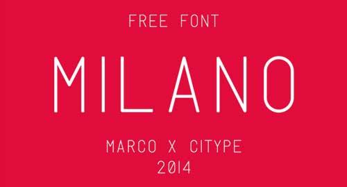 Tipografias gratis modernas y delgadas: Milano
