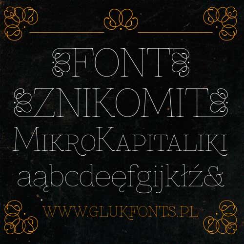 Tipografias gratis modernas y delgadas: Znikomit