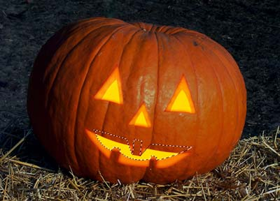Tutorial de Photoshop: Calabaza de Halloween - Boca Iluminación