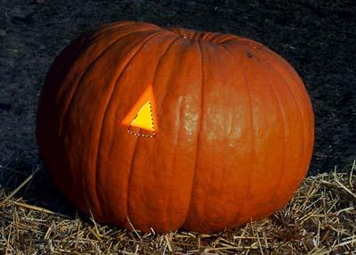 Tutorial de Photoshop: Calabaza de Halloween - Iluminación Ojo