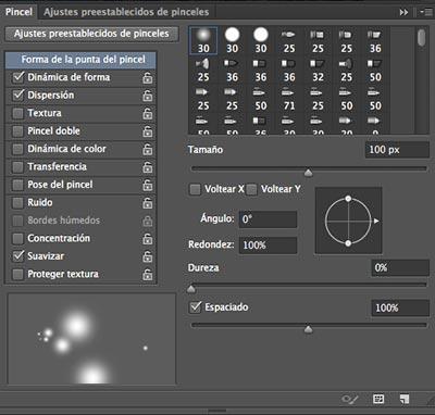 Tutorial de Photoshop: Calabaza de Halloween - Configuración Pincel Forma Punta