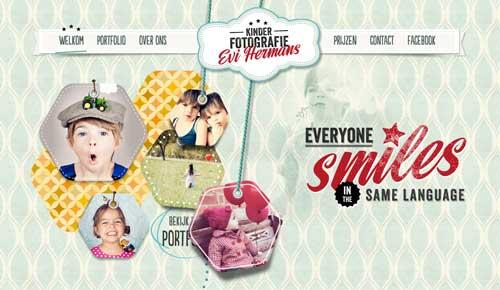 Ejemplos de paginas web que hacen uso de los colores pastel: Kinder Fotografie