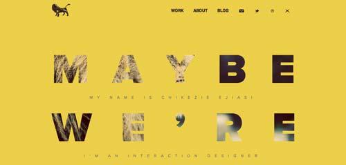 Ejemplos de paginas web que hacen uso de los colores pastel: Nine Lion Design