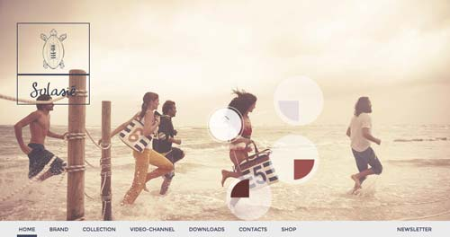 Ejemplos de paginas web que hacen uso de los colores pastel: Solasie