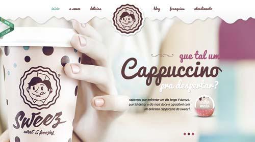 Ejemplos de paginas web que hacen uso de los colores pastel: Sweez