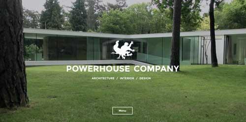 Ejemplos de paginas web que hacen uso de videos como fondo: Powerhouse Company