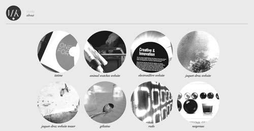 Ejemplos de portfolio online de diseño minimalista: Mickael Larcheveque