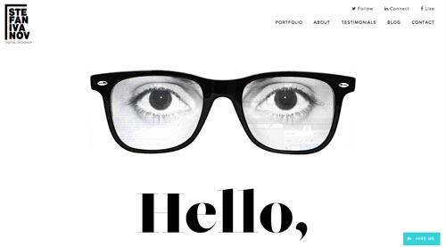Ejemplos de portfolio online de diseño minimalista: Stefan Ivanov