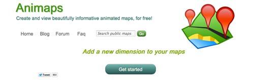 Herramientas para crear mapas online: Animaps