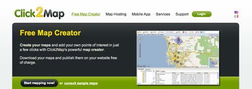 Herramientas para crear mapas online: Clic2Map
