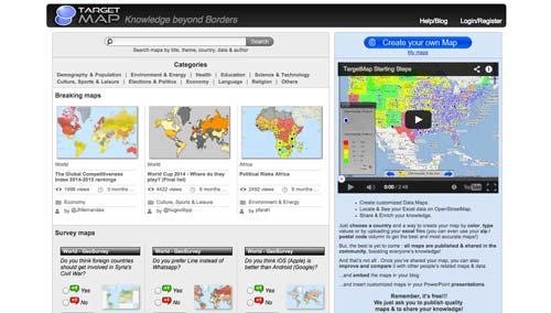 Herramientas para crear mapas online: Targetmap