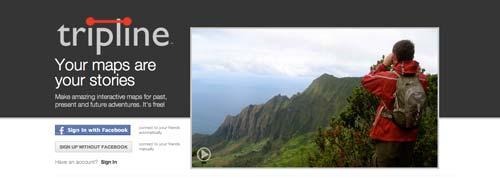 Herramientas para crear mapas online: Tripline