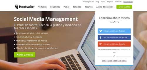 Herramientas para campaña de marketing en redes sociales: Hootsuite