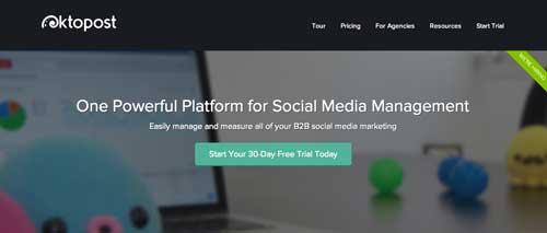 Herramientas para campaña de marketing en redes sociales: Oktopost