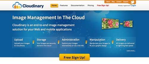 Herramientas que hacen uso del almacenamiento en la nube: Cloudinary