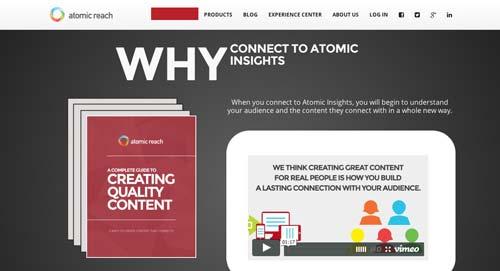 Herramientas para marketing de contenidos: Atomic Reach