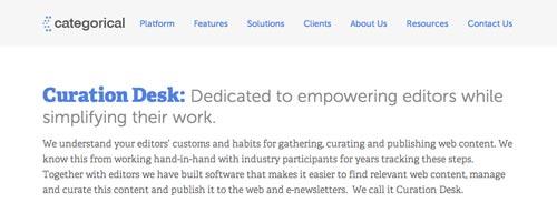Herramientas para marketing de contenidos: Categorical