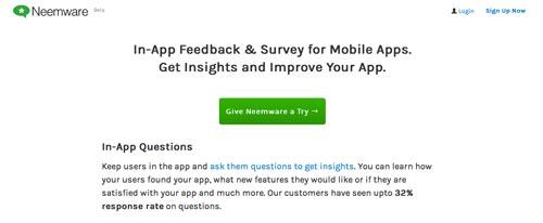 Herramientas para recolectar comentarios sobre tus aplicaciones móviles: Neemware
