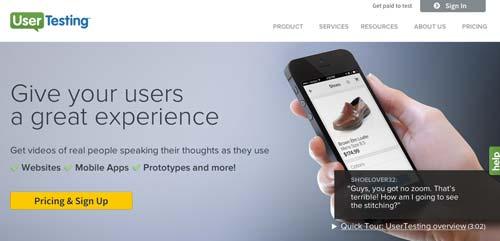 Herramientas para recolectar comentarios sobre tus aplicaciones móviles: User Testing