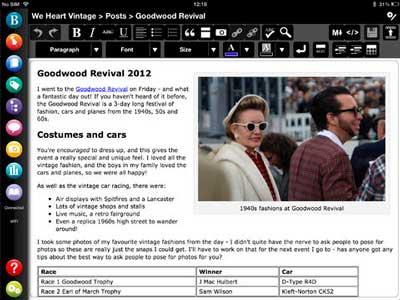 iOS app para usuarios de WordPress: BlogPad Pro