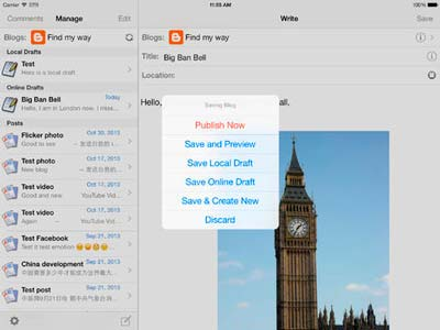 iOS app para usuarios de WordPress: BlogPress