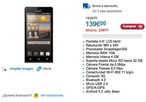 Las mejores ofertas de Black Friday en Carrefour: Huawei Ascend G6