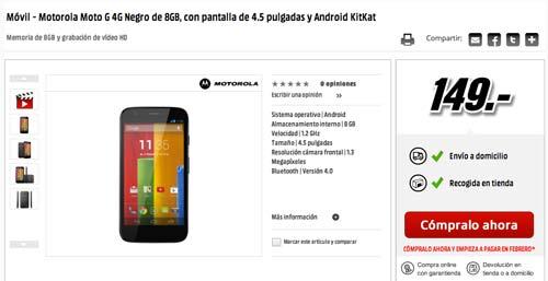 Las mejores ofertas de Black Friday en Media Markt: Motorola Moto G