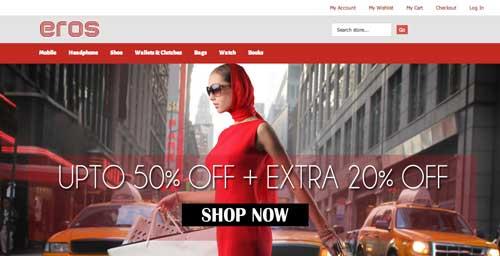 Magento themes para tu tienda online: Eros