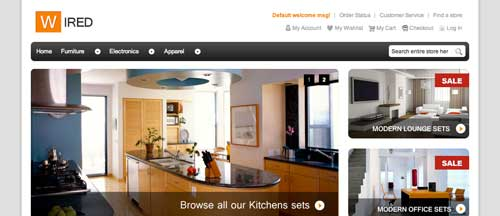 Magento themes para tu tienda online: HelloWired