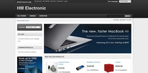Magento themes para tu tienda online: HM Electronic