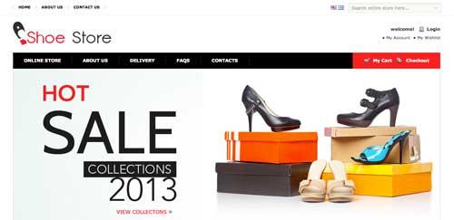 Magento themes para tu tienda online: Shoe Store