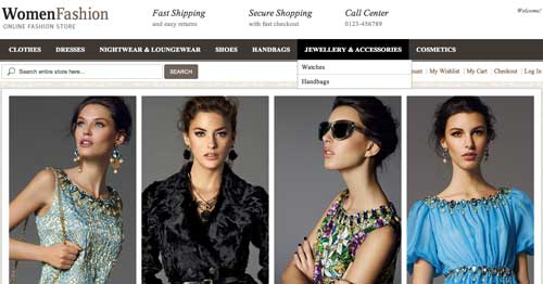 Magento themes para tu tienda online: Women Fashion