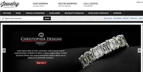 Magento themes para tu tienda online: Women Jewelry