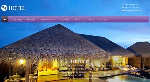 Los mejores temas WordPress de este año para hoteles: 5 Star Hotel