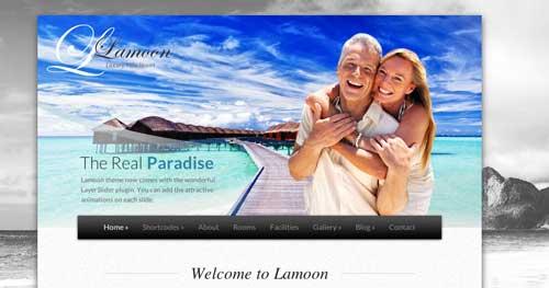 Los mejores temas WordPress de este año para hoteles: Lamoon