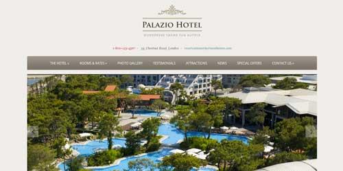 Los mejores temas WordPress de este año para hoteles: Palazio