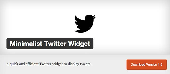 Plugin WordPress para añadir widget de Twitter: Minimalist Twitter Widget