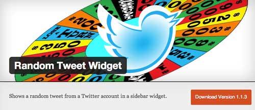 Plugin WordPress para añadir widget de Twitter: Random Tweet Widget