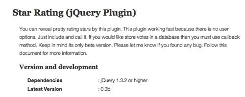 Plugin JQuery para añadir sistema de puntuación: Star Rating