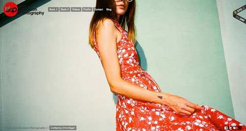Ejemplos de portfolio online de fotógrafos: Ben Thomson