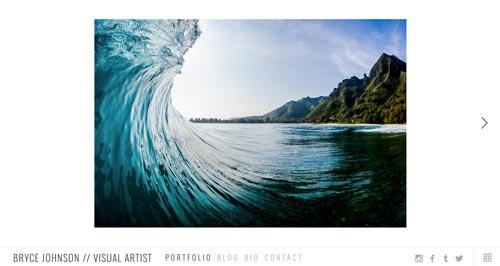 Ejemplos de portfolio online de fotógrafos: Bryce Johnson