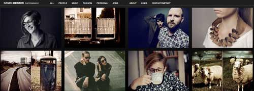 Ejemplos de portfolio online de fotógrafos: Daniel Weisser Photography