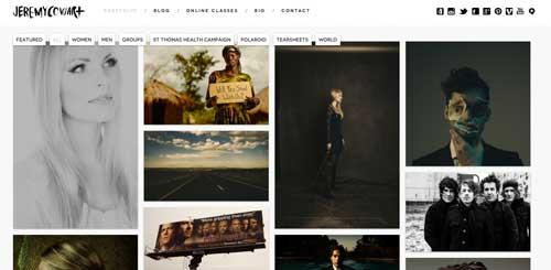 Ejemplos de portfolio online de fotógrafos: Jeremy Cowart